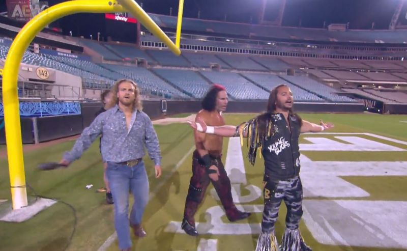 Hangman Page and The Young Bucks returned to Dynamite