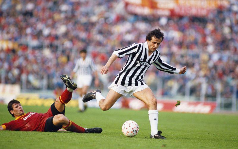 Michel Platini AS Roma v Juventus 1986