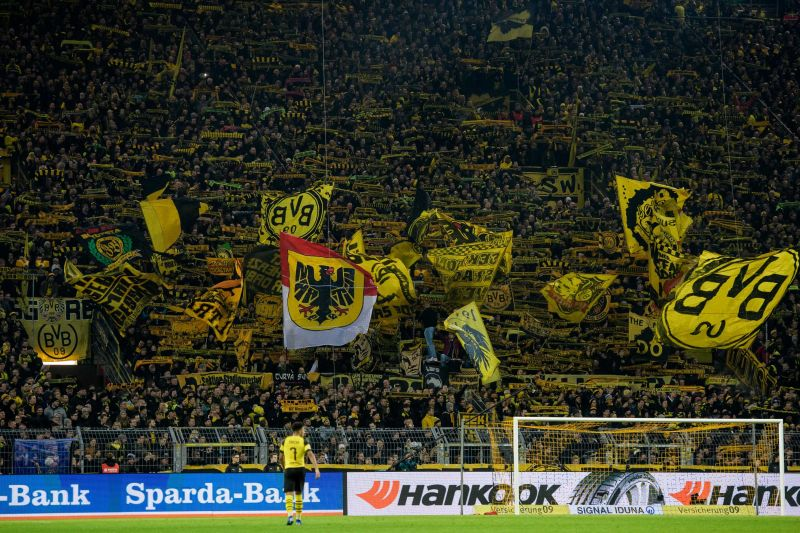 The terraces of the Bundesliga are a defining image of the game in Germany