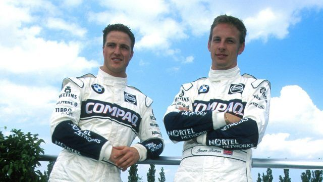 Button started his career in 2000 at Williams alongside Ralf Schumacher