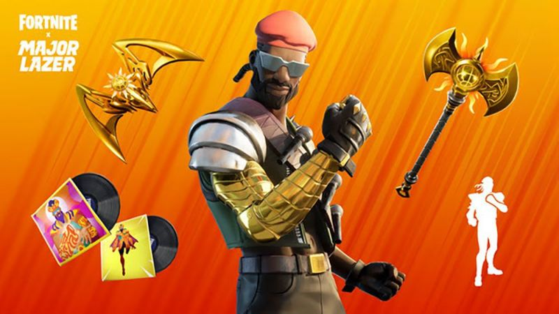 Major Lazer Bundle is currently available in the Fortnite item shop.