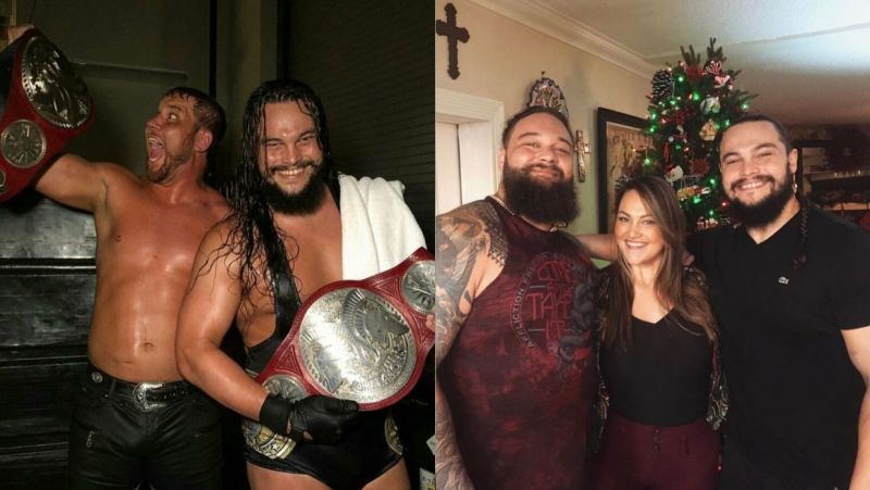 Bo Dallas with Curtis Axel and Bray Wyatt