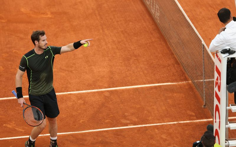 Andy Murray was on an unbeaten streak on clay in 2015 ahead of the final