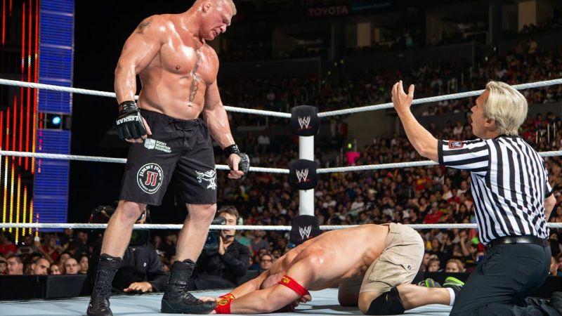 Cena and Lesnar