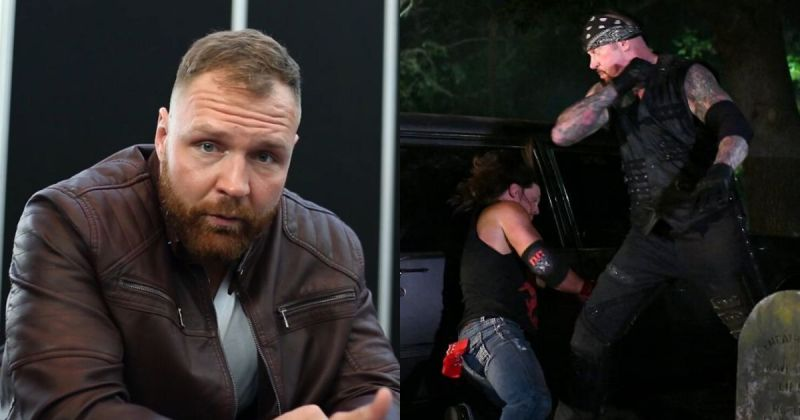 Jon Moxley/ Undertaker vs. AJ Styles from the Boneyard match at WrestleMania 36