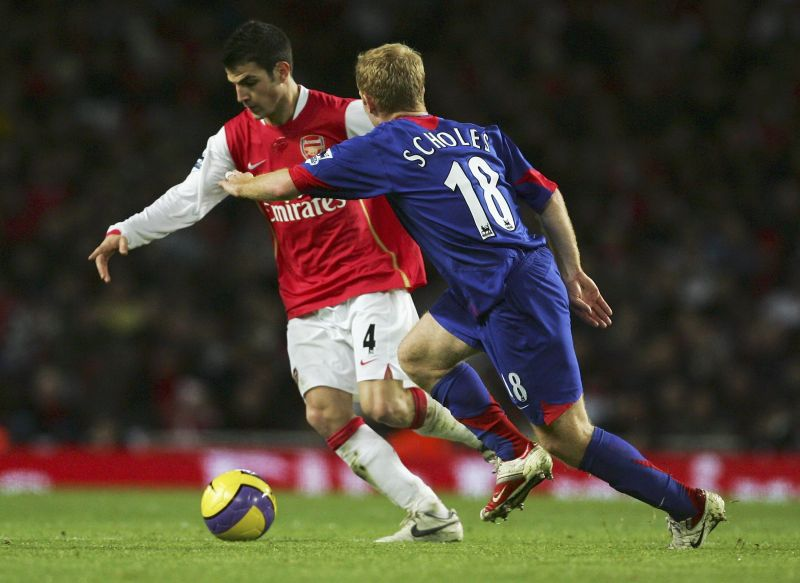 Scholes and Fabregas were often a part of many interesting duels in midfield