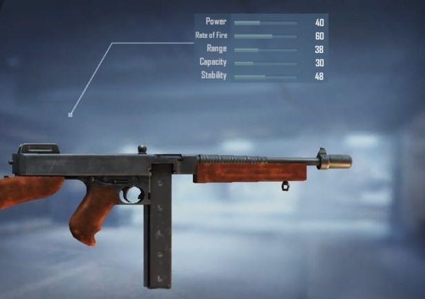 Thompson SMG with stats