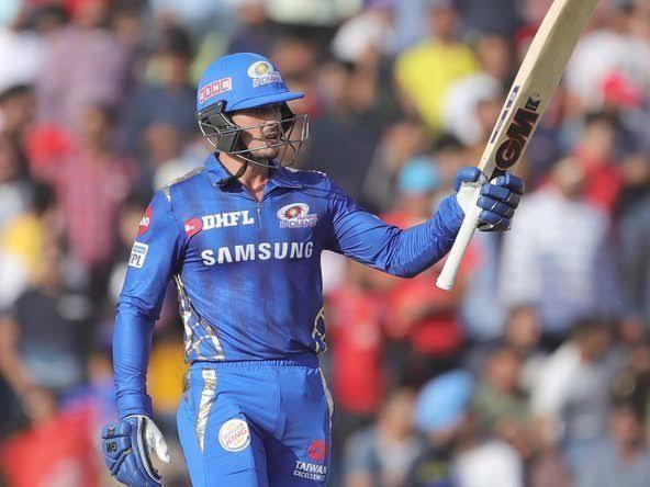Quinton de Kock was the highest run-getter for MI in IPL 2019