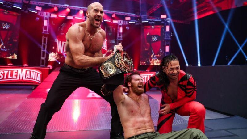 Sami Zayn after retaining the Intercontinental Championship against Daniel Bryan