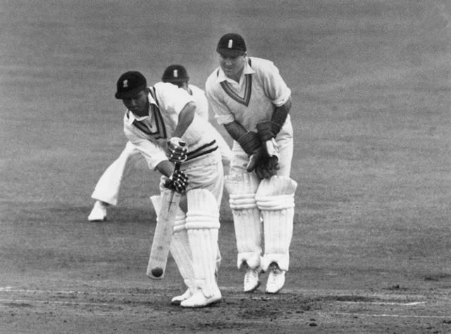 Vijay Hazare scored a valiant second innings hundred against West Indies in the 1949 Brabourne Test.