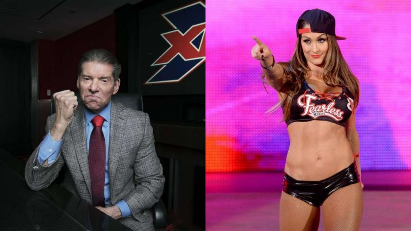Vince McMahon and Nikki Bella