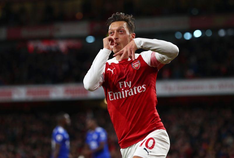 Mesut Özil in Premier League action for Arsenal