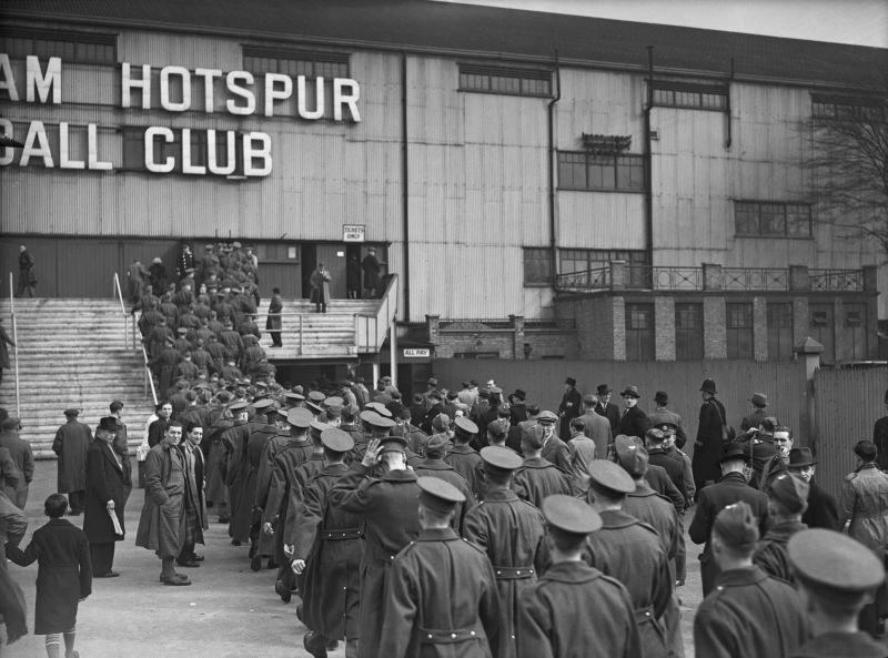 Servicemen At White Hart Lane
