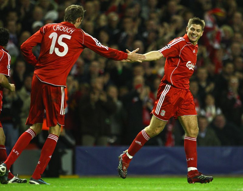 Gerrard and Crouch were teammates at Liverpool for three seasons