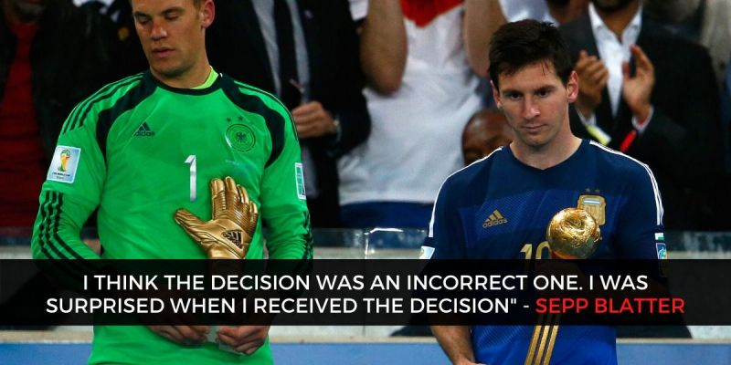 There were better players than Lionel Messi in the 2014 World Cup, according to Sepp Blatter.