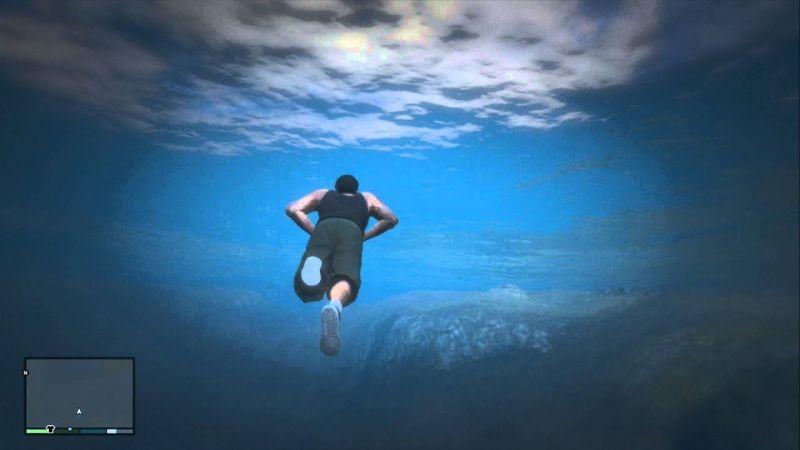 Swimming Underwater in GTA 5
