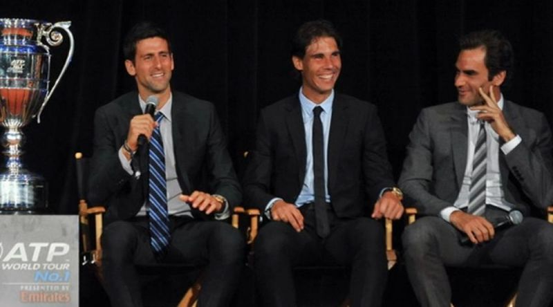 Novak Djokovic, Rafael Nadal and Roger Federer have accounted for 56 of the last 67 Majors
