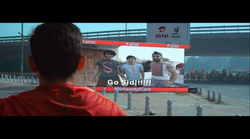 Airtel #NetwrokOfCare live engagement with runners on the ADHM route