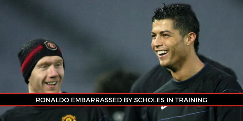 Ronaldo was left starstruck by Scholes.