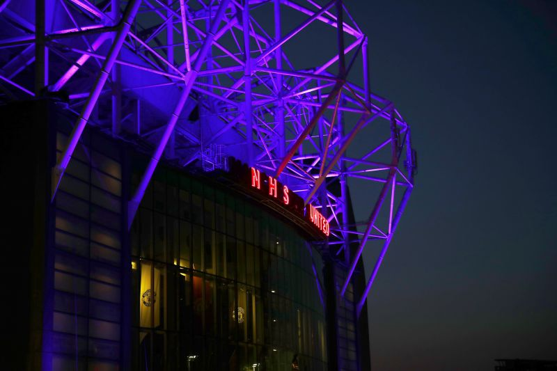 COVID-19 Lockdown: Old Trafford remains in the dark.
