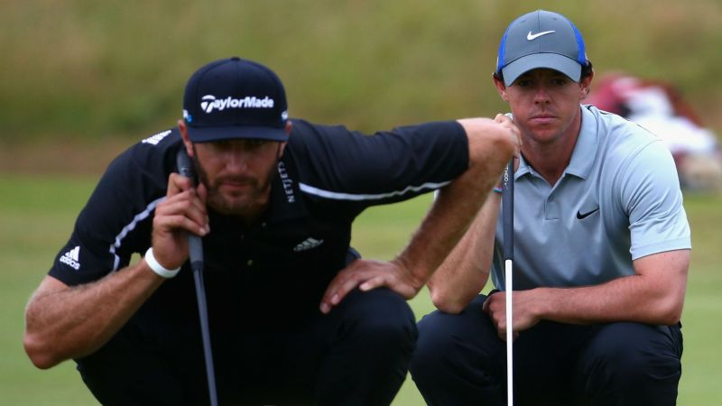 Rory McIlroy Dustin Johnson - cropped