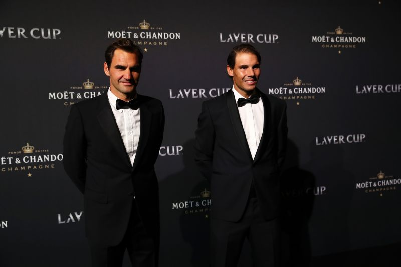 Can Roger Federer (left) and Rafael Nadal still add to their humongous Grand Slam tally?