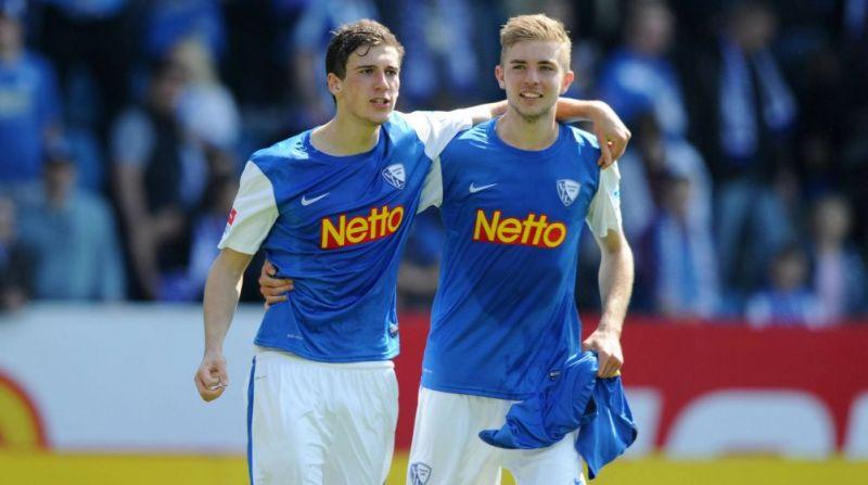 German internationals Leon Goreztka and Christoph Kramer playing for Bochum