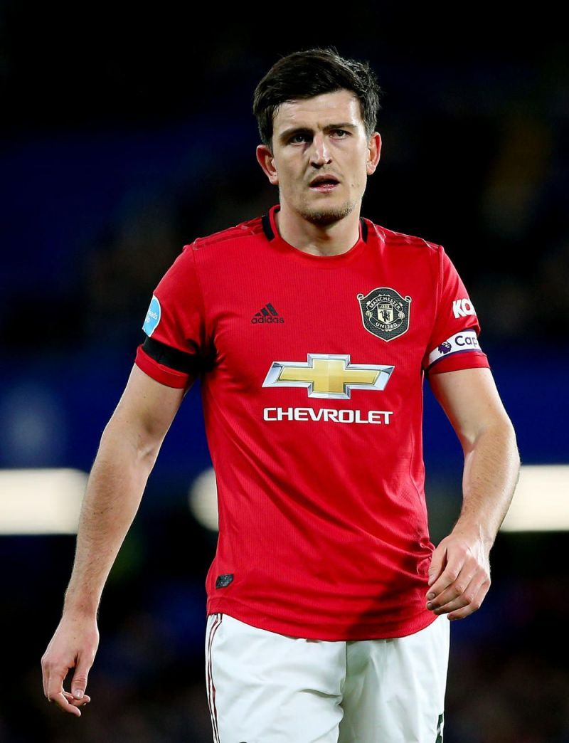 Maguire in action for Manchester United