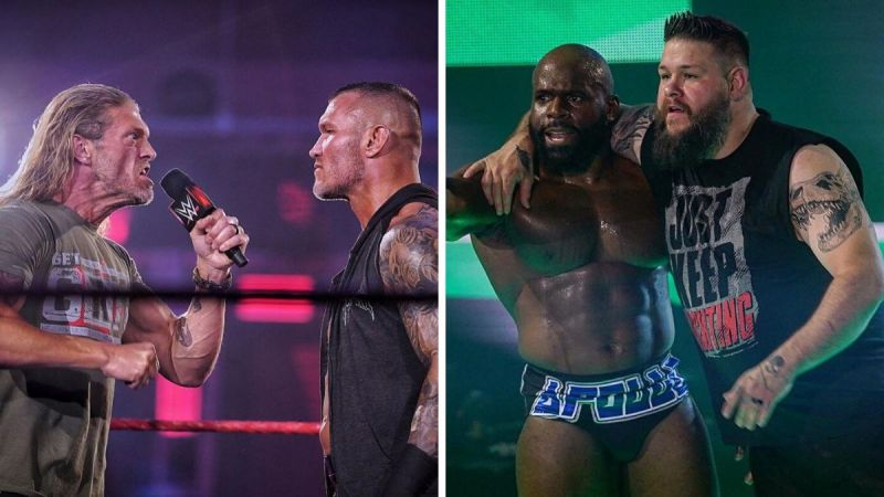 Edge and Randy Orton; Apollo Crews and Kevin Owens made a big return