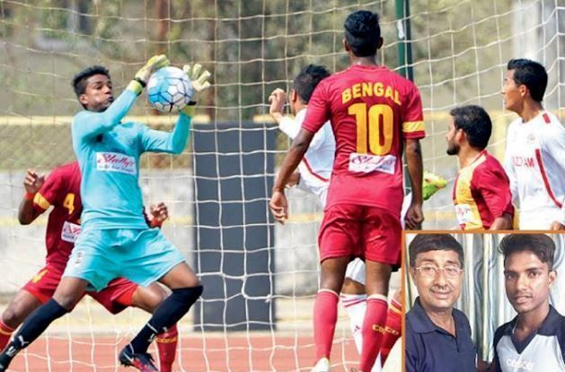 Sankar Roy for Bengal in the Santosh Trophy.