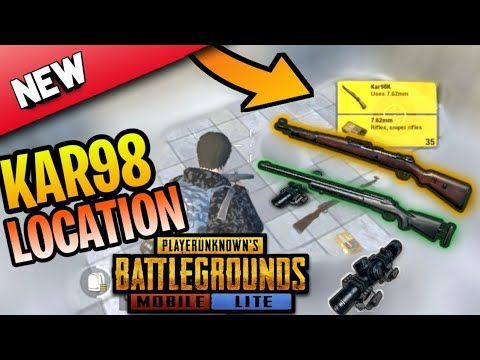 Where to find Kar98k in PUBG Mobile?