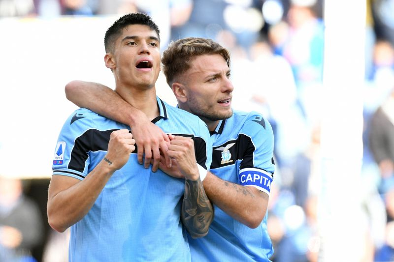 Ciro Immobile and Joaquin Correa
