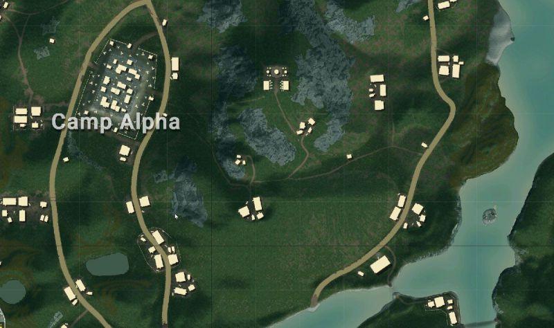 Camp Alpha in Sanhok