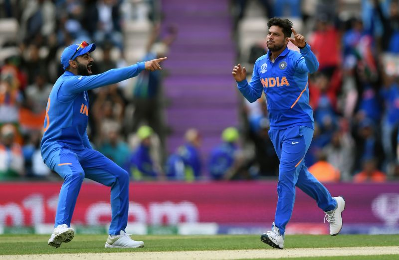 Virat Kohli and Kuldeep Yadav (R) last played together in the 2019 World Cup