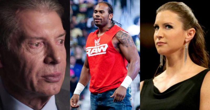 Vince McMahon, Shad Gaspard and Stephanie McMahon.