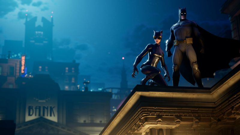 Batman and Batwoman in Fortnite (Image Courtesy: GameSpot )