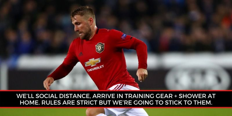 Luke Shaw is excited about returning to team training