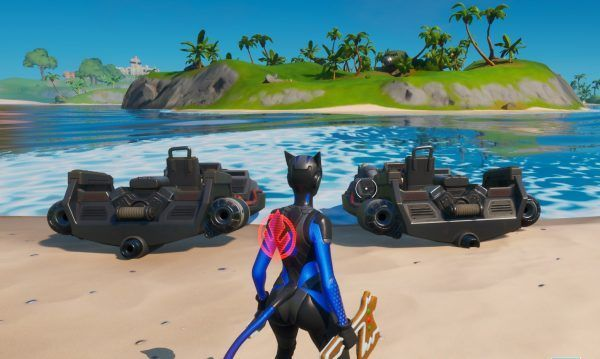 Boats and Swimming were the only two methods to move across the map during the initial days of Fortnite Chapter 2 (Image Credits: VG247)