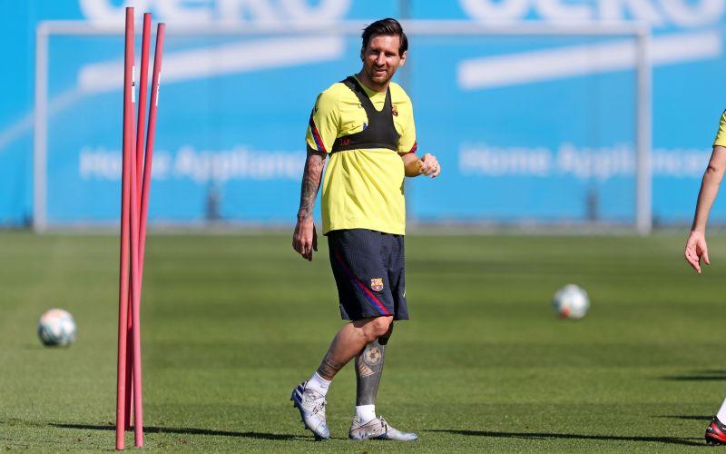 Messi returns to training for Barcelona following the coronavirus lockdown