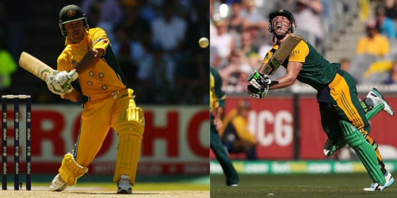 Apart from Sachin Tendulkar, Dilshan also chose Ricky Ponting (left) as captain and AB de Villiers as a wicket-keeper batsman