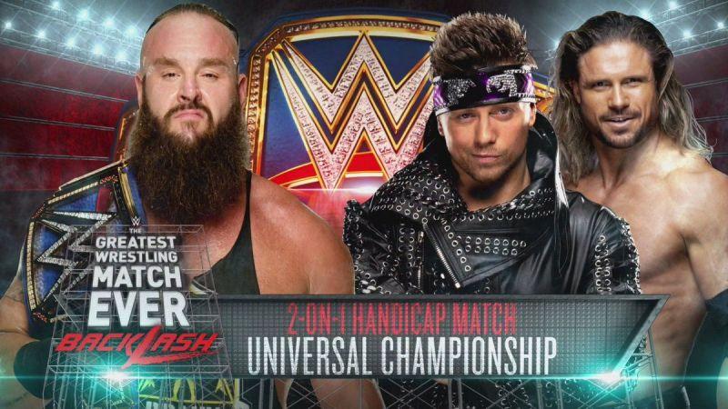 Braun Strowman versus The Miz and John Morrison. Who wins?