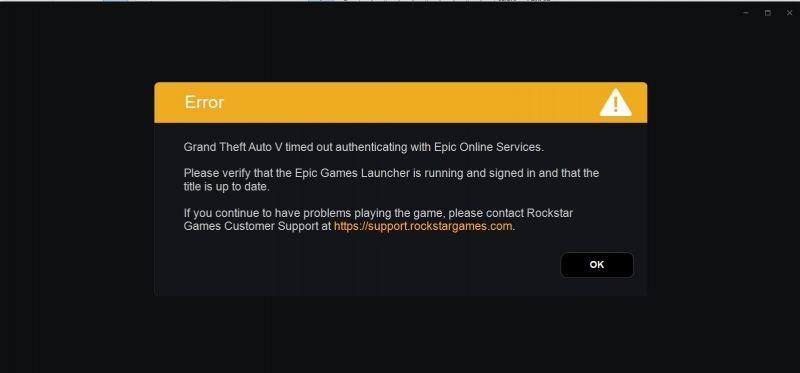 GTA 5 Time Out Error Screen