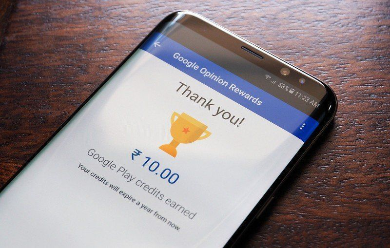 Google Opinion reward - rated 4.3 on Playstore