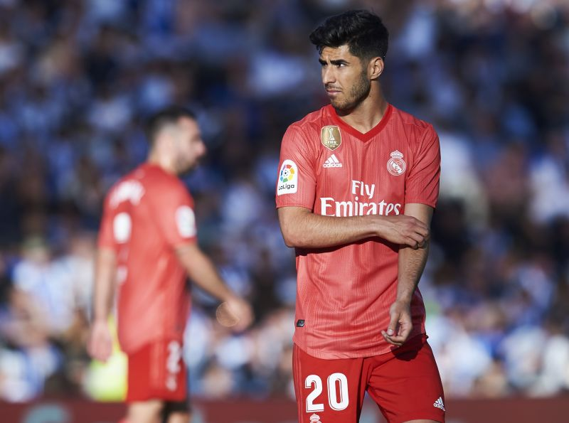 Marco Asensio made his return to training after almost 250 days on the sidelines
