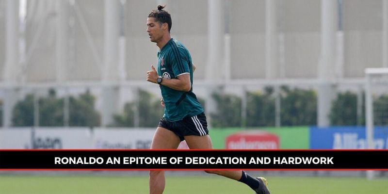Ronaldo was pictured in first-team group training for the first time since March (Picture: Sportskeeda)