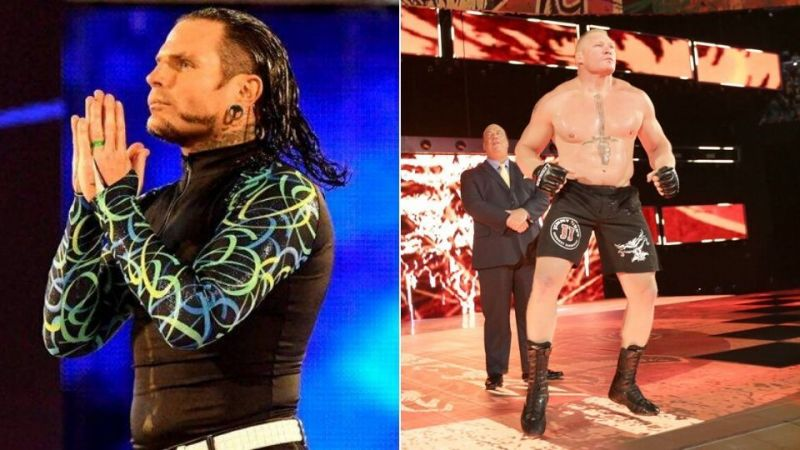 Jeff hardy pitched an idea for his 2002 match with Brock Lesnar that was rejected