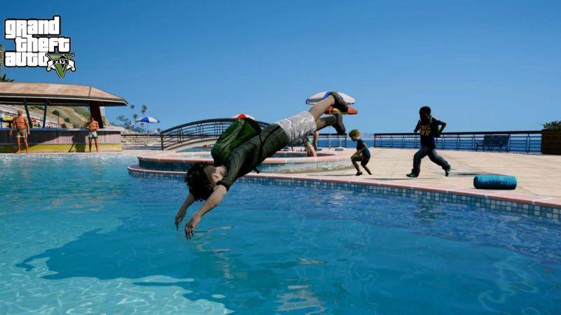 Swimming in GTA 5