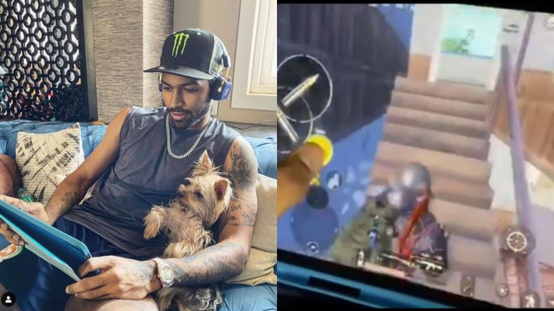 Hardik Pandya playing PUBG Mobile