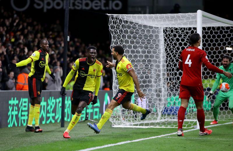 Watford against Liverpool in the Premier League Watford chairman Scott Duxbury