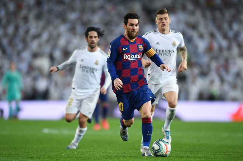 Lionel Messi in action for FC Barcelona Lionel Messi and Fàbregas in action for Barcelona